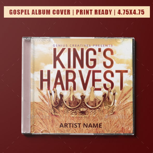 Gospel CD Album Cover Graphics, Designs & Templates