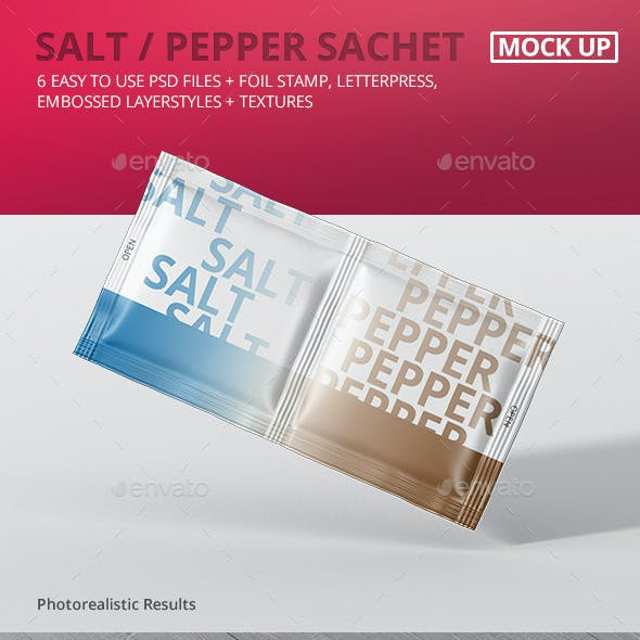Salt / Pepper Sachet Mockup
