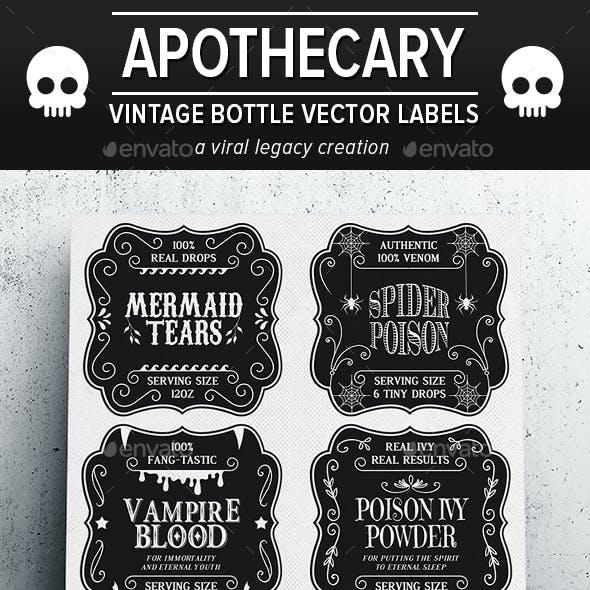 Apothecary Bottle Labels / Stickers