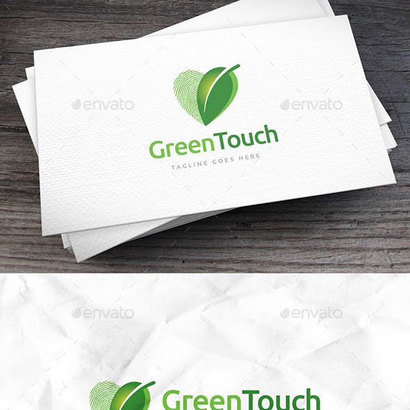 Green Touch Logo Template