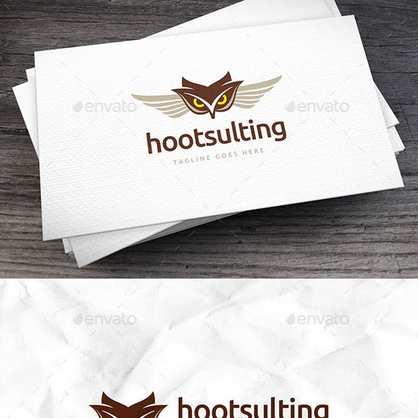 Hootsulting Logo Template
