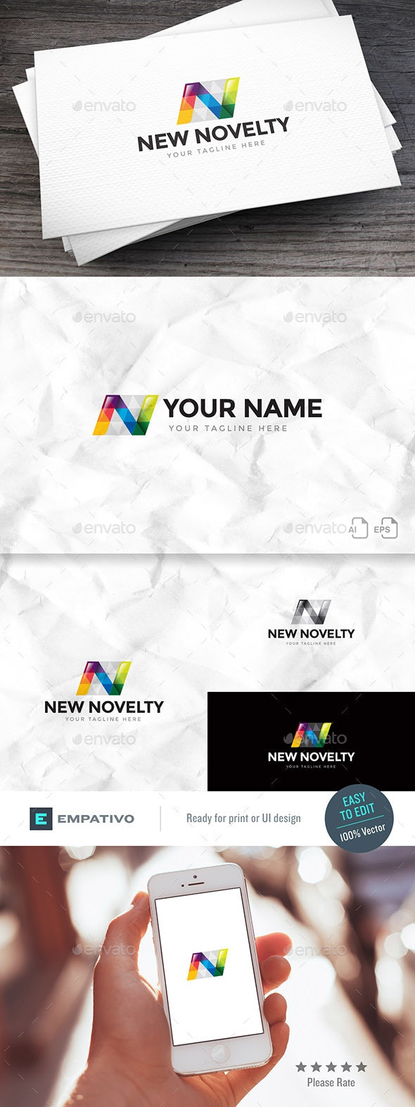 New Novelty Letter N Logo Template - Letters Logo Templates
