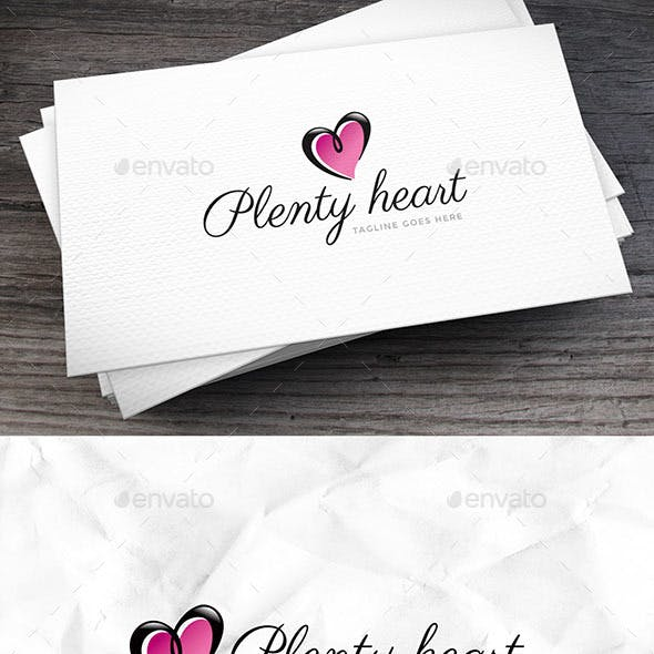 Plenty Heart Logo Template