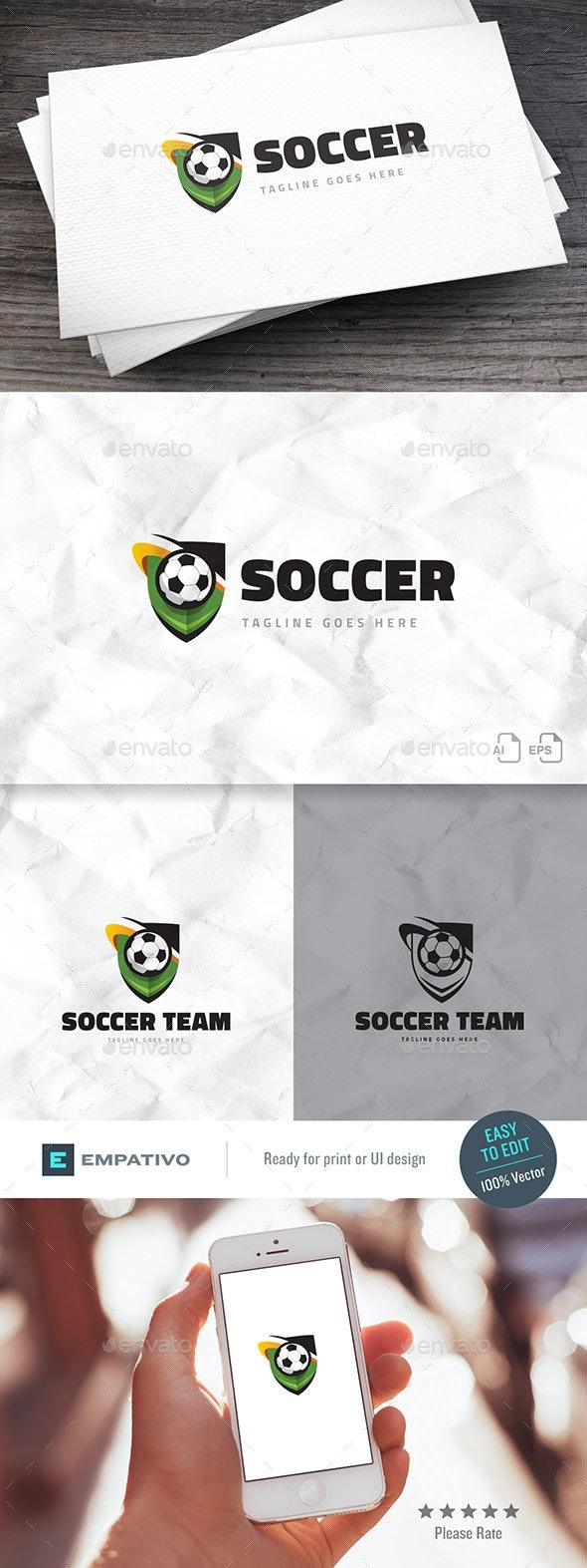 Soccer Team Logo Template - Objects Logo Templates