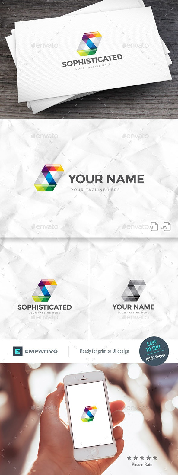Sophisticated Letter S Logo Template - Letters Logo Templates