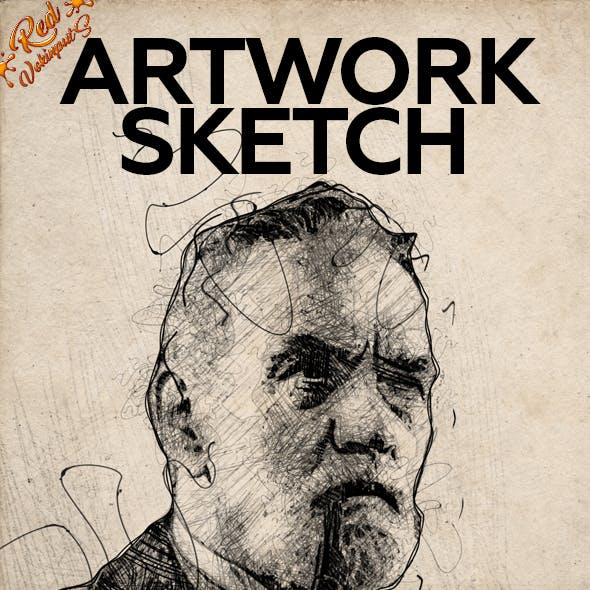 Artwork Sketch Photoshop Action