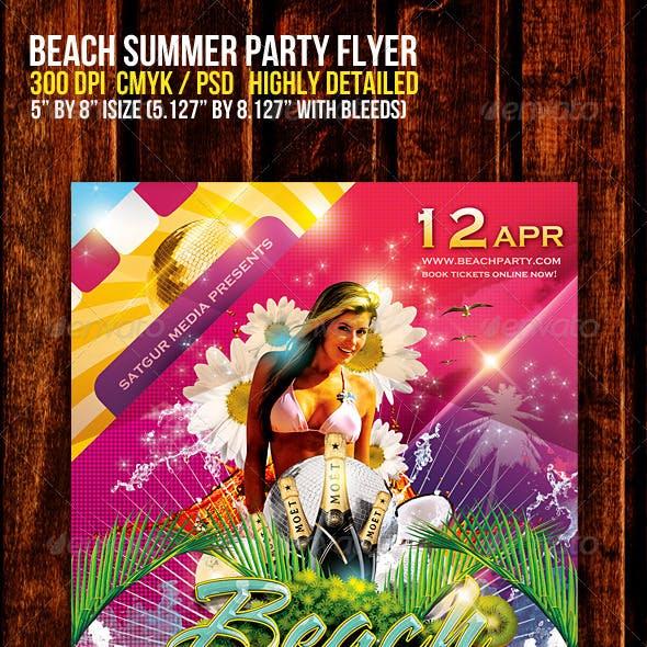 Beach Summer Music Dance Party Flyer V2