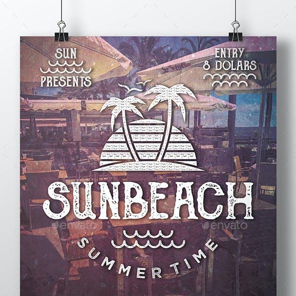 Sun Beach Fest Flyer Template