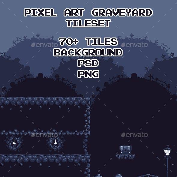 Graveyard Pixel Art Tileset