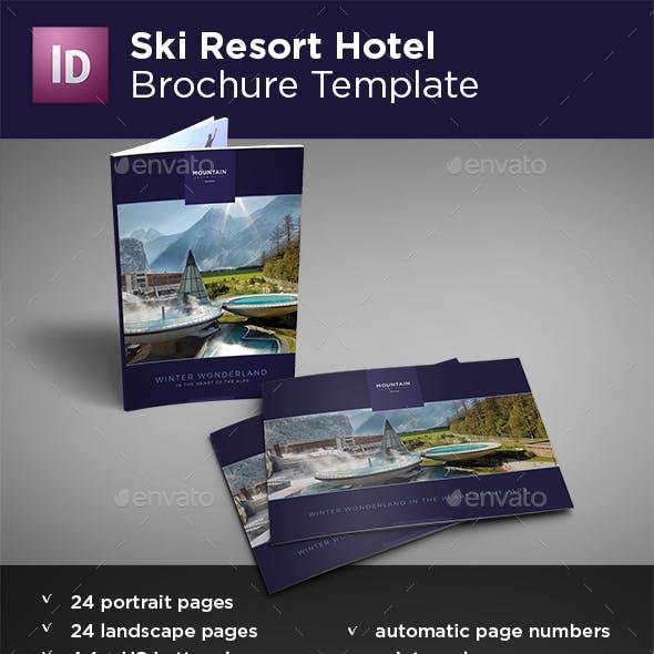 Ski Resort Hotel Brochure Portrait & Landscape Versions