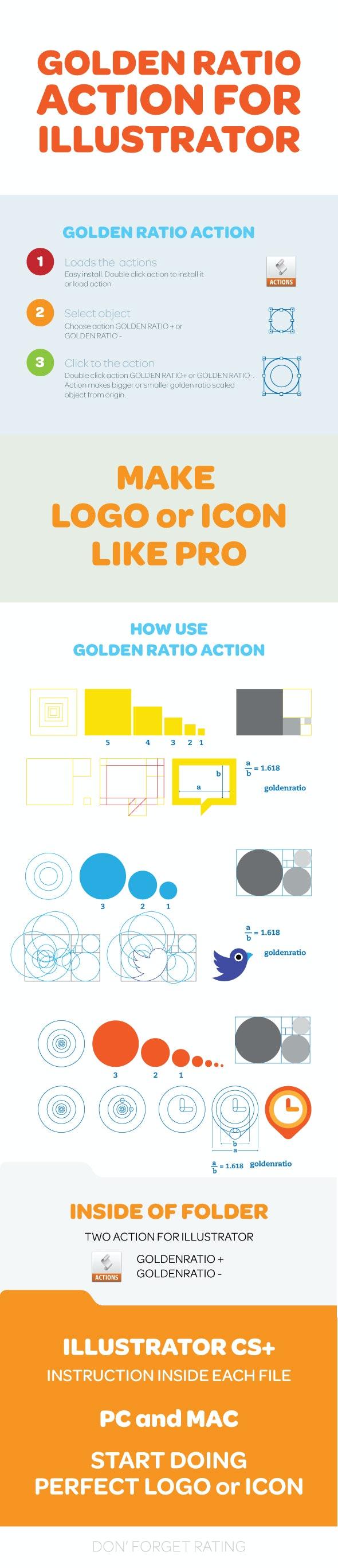 Golden Ratio Illustrator Action - Actions Illustrator
