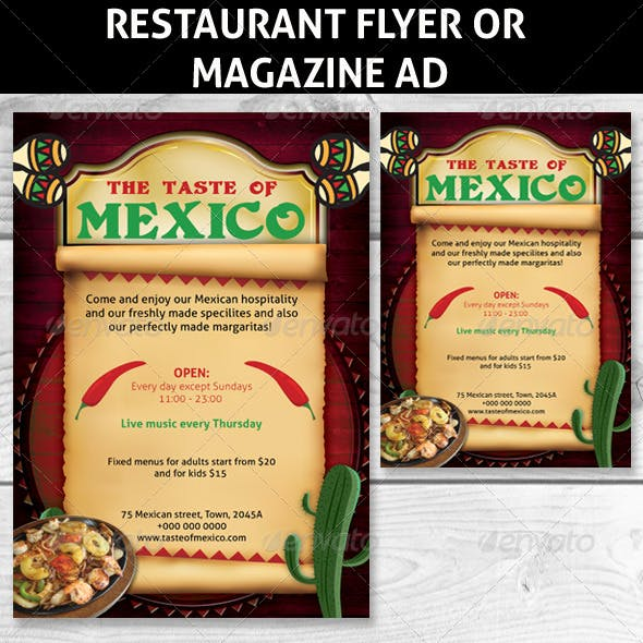 Restaurant Magazine Ads or flyers 4