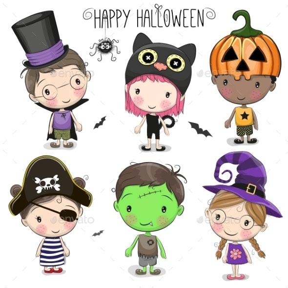 Set with Halloween Kids - Halloween Seasons/Holidays