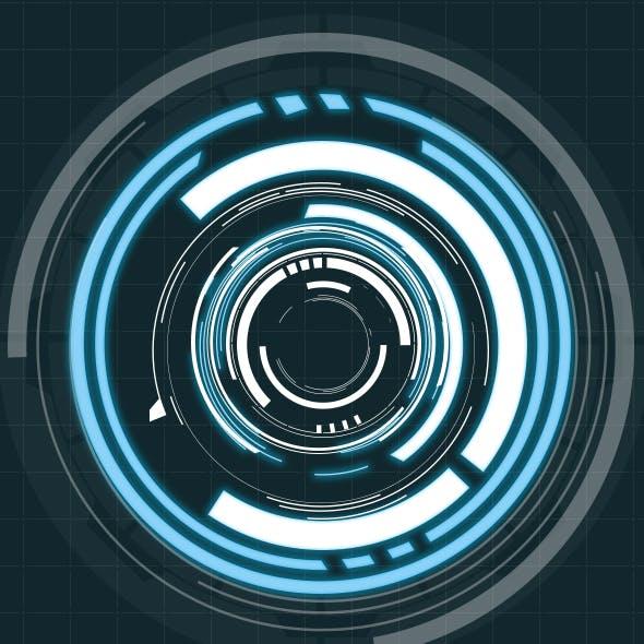 Hi-Tech HUD Circles (20 Elements - Custom Shapes)