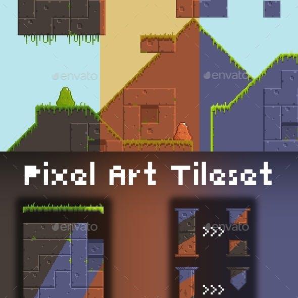 2D Pixel Art Tileset