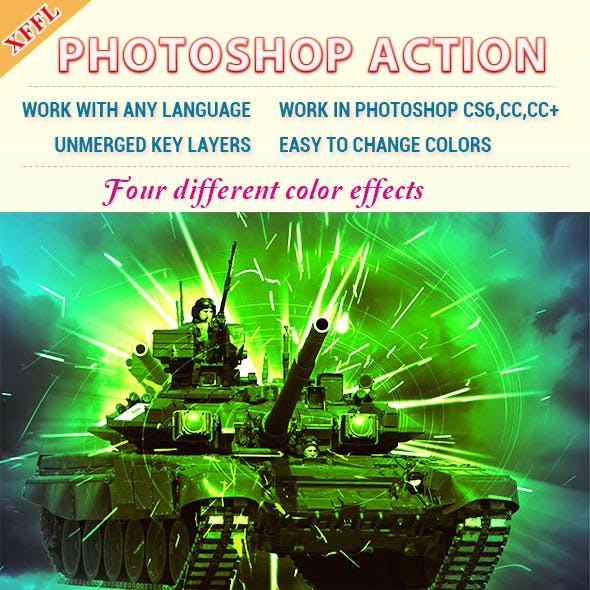 Flare Effect Photoshop Action