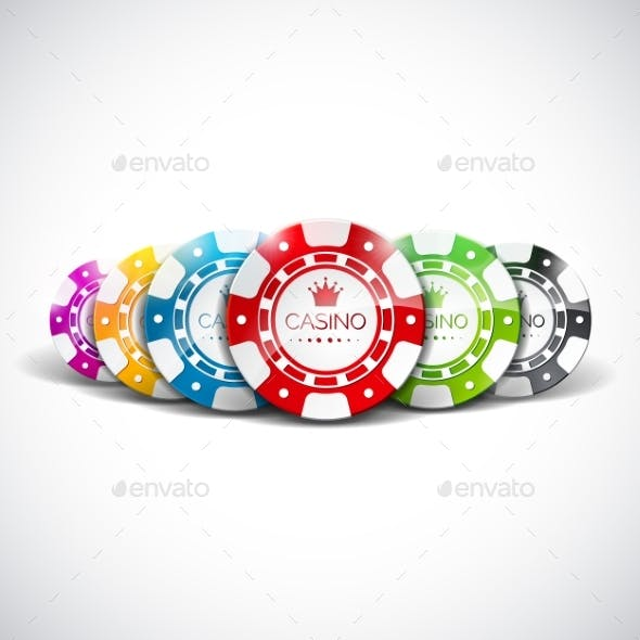Vector Illustration on a Casino Theme with Color