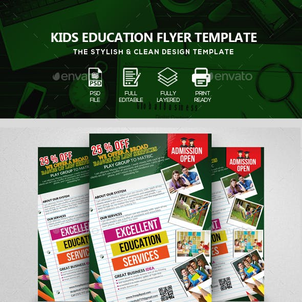 Creative School Admission Open Flyers