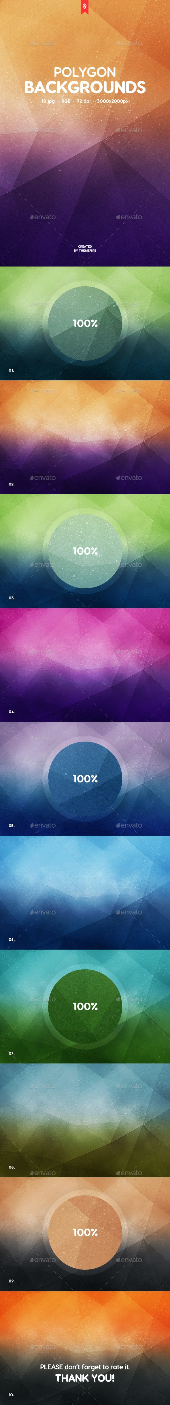 10 Polygon Backgrounds - Abstract Backgrounds