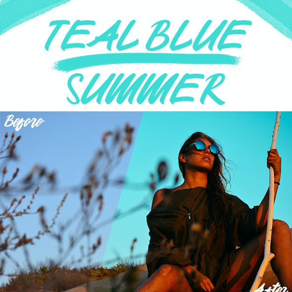 Teal Blue Summer Lightroom Presets