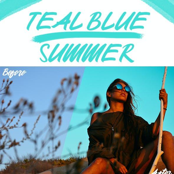 Teal Blue Summer Lightroom Presets