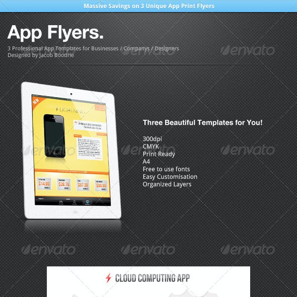 App Flyer Template Bundle x3
