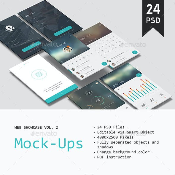 Web Showcase Mockup Vol. 2