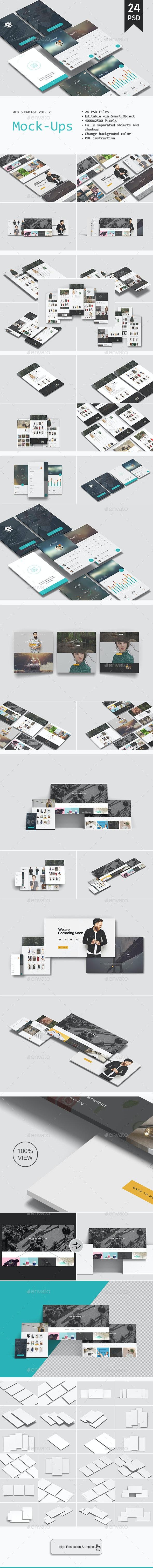 Web Showcase Mockup Vol. 2 - Website Displays