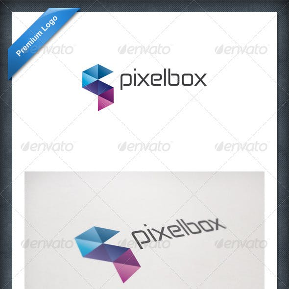Pixel Box Logo Template