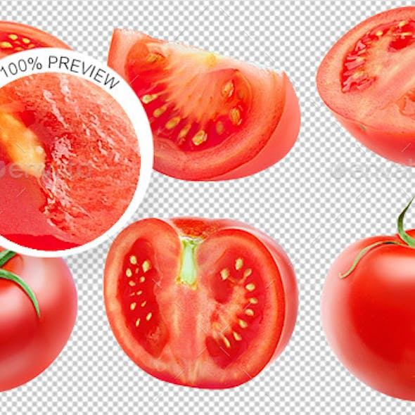 Collection of Isolated Tomatoes