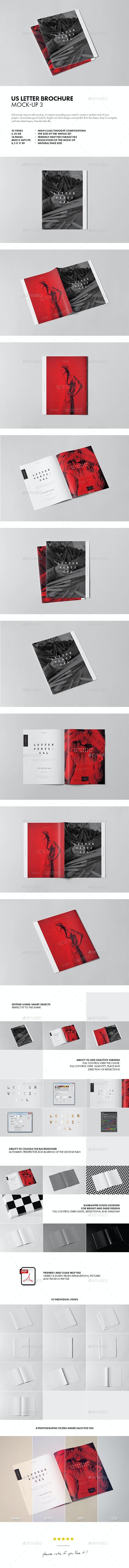 US Letter Brochure Mock-up 3 - Brochures Print