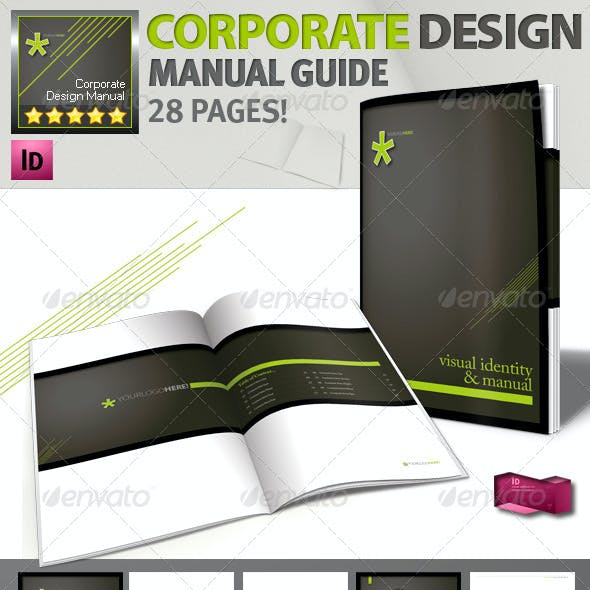 Corporate Identity Manuals and Guides Template A4