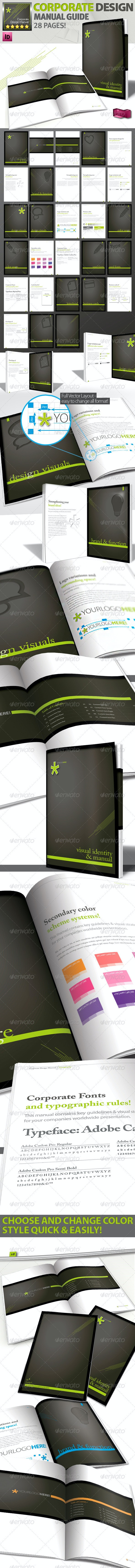 Corporate Identity Manuals and Guides Template A4 - Corporate Brochures