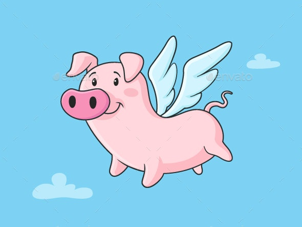 Image result for flying pig with wings