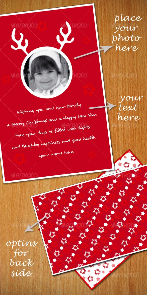 Christmas Vector Greeting Card - Christmas Seasons/Holidays