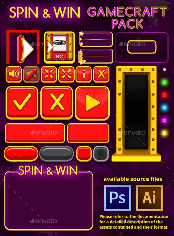 Spin and Win - Game Assets - Game Kits Game Assets