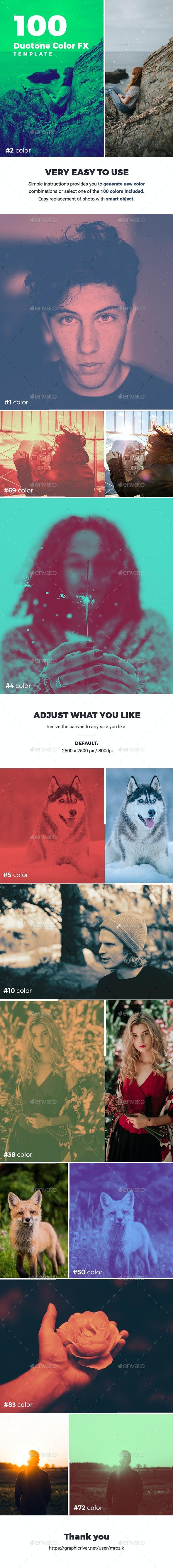 100 Duotone FX Photo Template