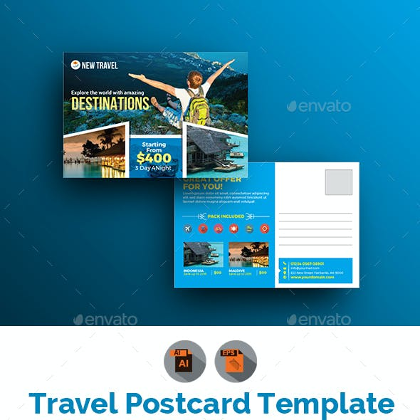 Holiday | Travel | Tour Postcard Template
