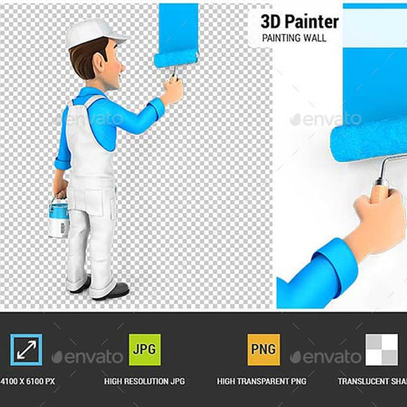 3D Painter Painting Wall