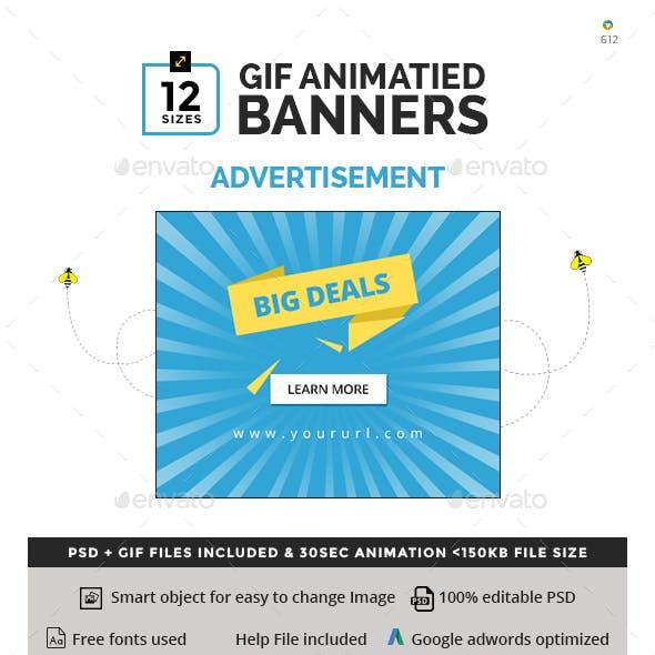 Advertisement Animated GIF Banners