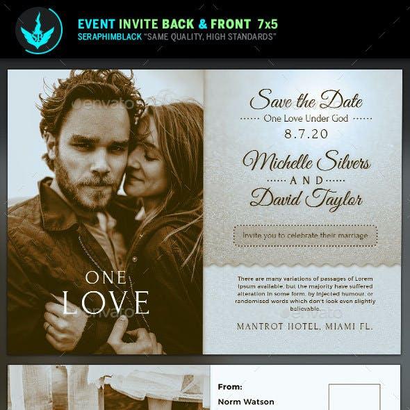 Retro Wedding Invite Template