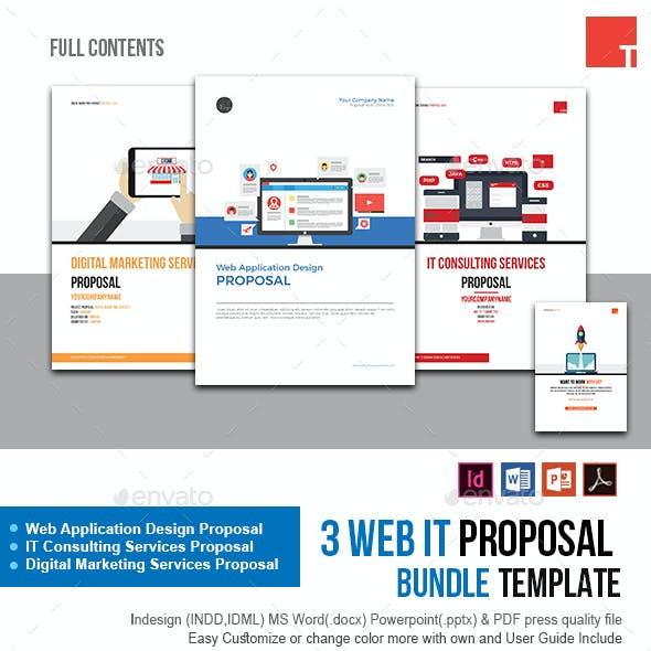 3 Web IT Proposal Bundle Template