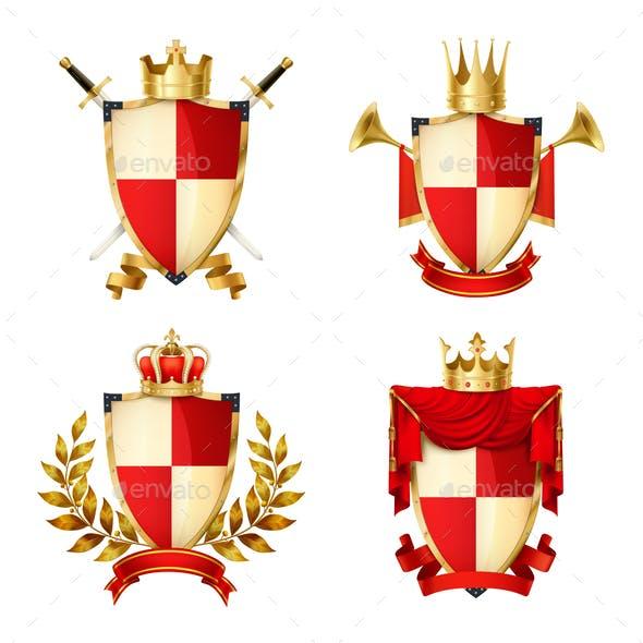 Heraldic Shields Set