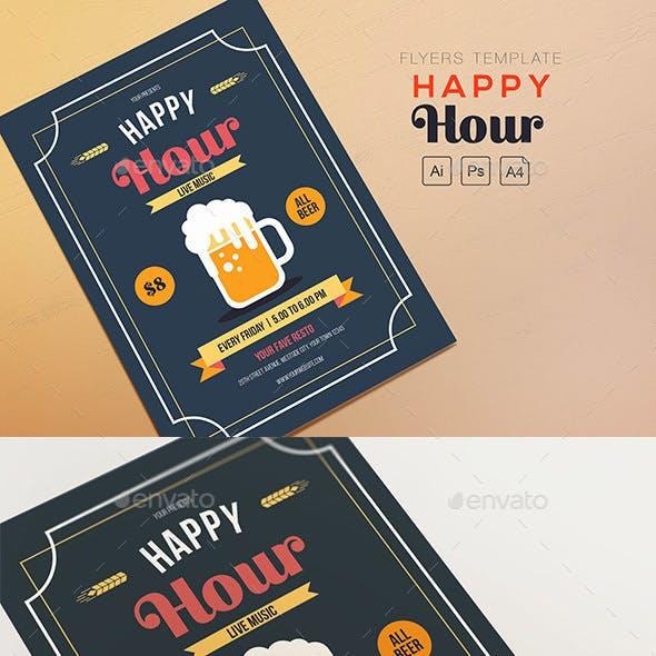 Happy Hour Beer Flyers