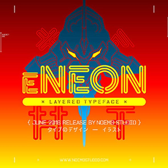 eNeon — Layered Typeface