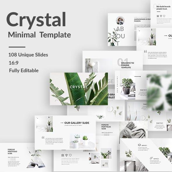 Crystal Minimal Keynote Template