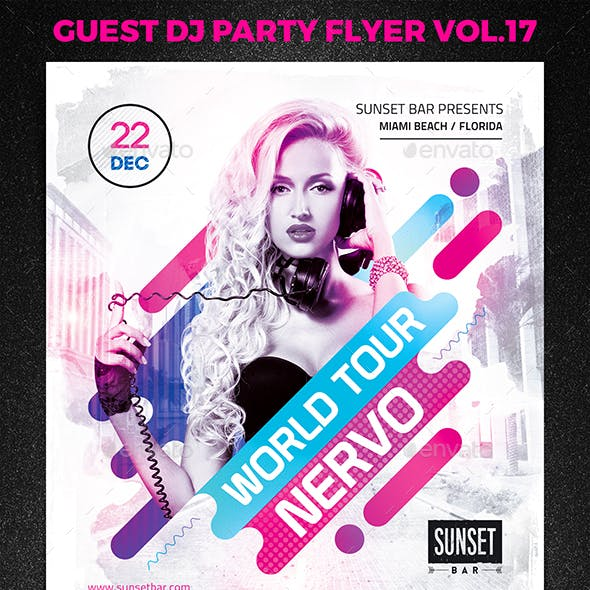 Guest DJ Party Flyer vol.17