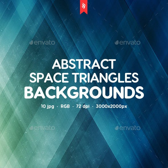 Space Triangles Backgrounds