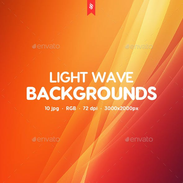Light Wave Backgrounds