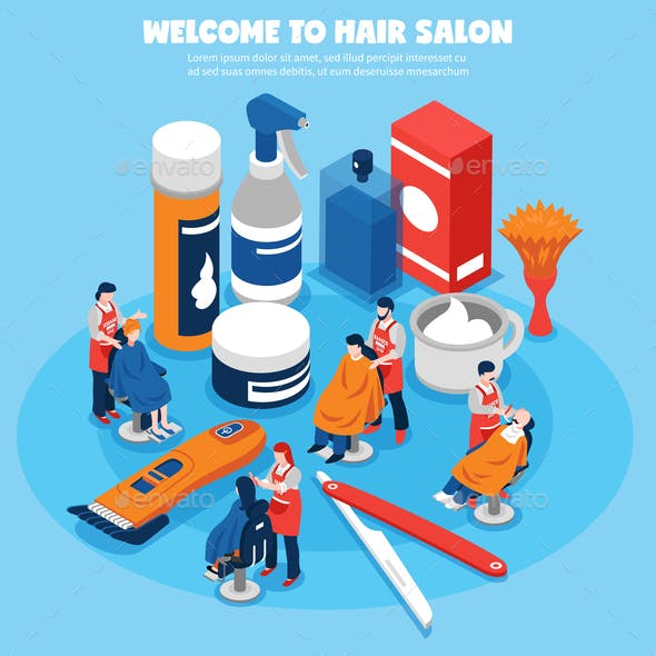 Barbershop Concept Illustration